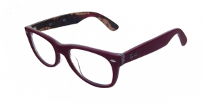 Ray-Ban RX5184 5406 TOP MATTE RED ON TEXTURE